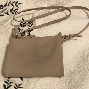 ✅2 for $10 Taupe Double ZIP Crossbody